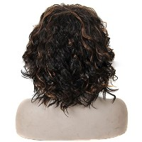 Zhhlinyuan 良質 Natural Fluffy Synthetic Waves Wigs Womens Cute Short Curly Wigs WS391
