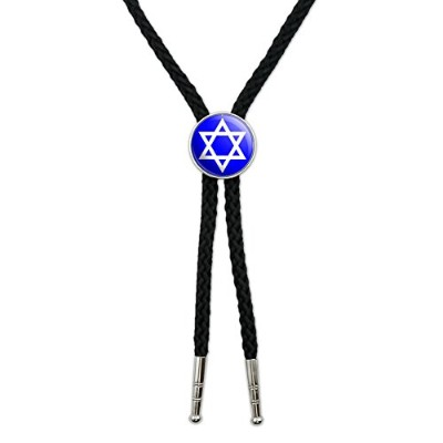 STAR OF DAVID – Shield Jewish Western SouthwestカウボーイネクタイBow Bolo Tie