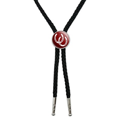 Horseshoes–Good Luck Western SouthwestカウボーイネクタイBow Bolo Tie