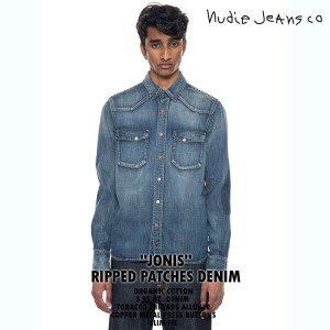 【NudieJeans ヌーディージーンズ JONIS ジョニス RIPPED PATCHES 140485】