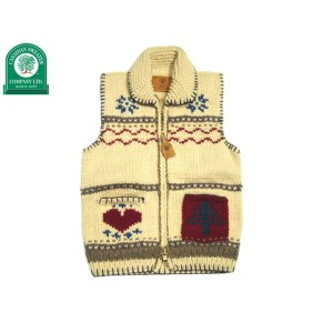 CANADIAN SWEATER(カナディアンセーター)/AMERICAN COUNTRY TAPESTRY ZIP UP VEST/natural