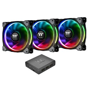 Thermaltake Riing Plus 12 RGB Radiator Fan TT Premium Edition -3Pack- ケースファン FN1074CL-F053-PL12SW-A