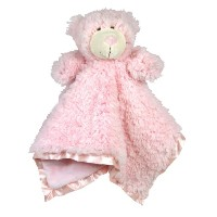 Stephan Baby Ultra Soft Cuddle Bud Blankie Bear, Pink by Stephan Baby