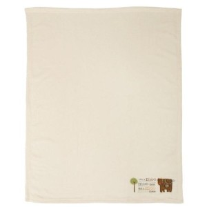 with a Moo Moo Match Back Crib Throw by Bean Sprout