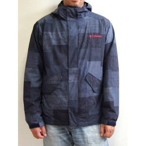 Columbia×Dr.Denim HONZAWA コロンビア ジャクソンヒルパターンドジャケット JACKSON HILL PATTERNED JACKET Navy Patchwork...