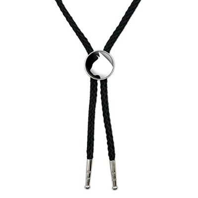 CatシルエットWestern SouthwestカウボーイネクタイBow Bolo Tie