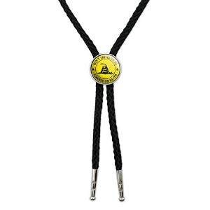 ガズデン – ないTread On Me – Liberty or Death – Distressed円Western SouthwestカウボーイネクタイBow Bolo Tie