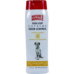 Nature's Miracle Supreme Oatmeal Odor Control Shampoo, 16 oz. by Spectrum
