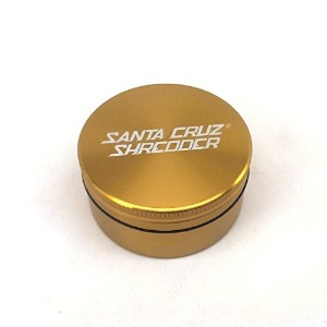 Santa Cruz Medium 2 Piece Grinder with Cali Crusher花粉押し 2 Piece Medium ゴールド SG2-M-GLD+CCP