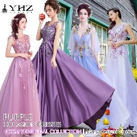 Royal Purple Formal Evening Gown Prom Cocktail Bridesmaid Dress Light Purple Homecoming Party Dress