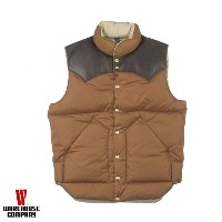 WAREHOUSE ウエアハウス ダウンベスト NYLON DOWN VEST ROCKY MOUNTAIN × WAREHOUSE 290-172-11