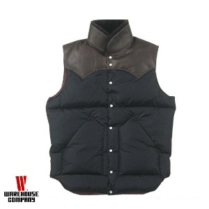 WAREHOUSE ウエアハウス ダウンベスト NYLON CHRISTY VEST ROCKY MOUNTAIN × WAREHOUSE 290-172-12