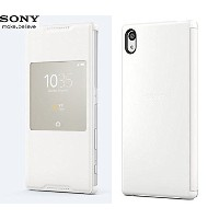 Sony Xperia Z5 用 ウィンドウ付きカバー SCR42 White/ホワイト 並行輸入品