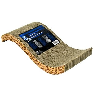 Catit Style Scratcher with Catnip, Animal Print S-Chaise by Catit