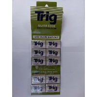 TRIG Silver Edge Stainless Double Edge Razor Blades (100) by Trig