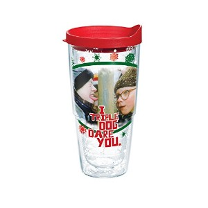 Tervis 1163380Tumbler withレッド蓋、24-ounce、クリスマスストーリーDare You