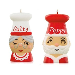 Tis the Seasoning! Santa and Mrs. Claus Salt and Pepper Shakers Ornaments 2015 Hallmark by Hallmark...