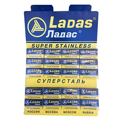 Ladas Super Stainless 両刃替刃 100枚入り(5枚入り20 個セット)【並行輸入品】