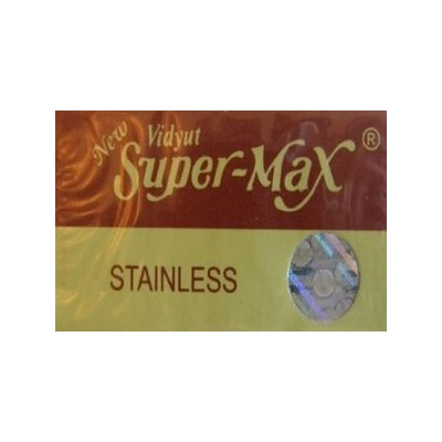 Super-Max Stainless 両刃替刃 100枚入り(10枚入り10 個セット)【並行輸入品】
