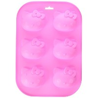 Longzang 6 Cavity KT Silicone Mould Cake Chocolate Soap Mould Baking Mould Ice Tray