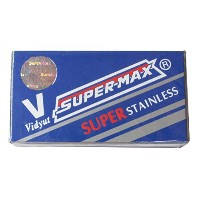 Super-Max Super Stainless 両刃替刃 100枚入り(10枚入り10 個セット)【並行輸入品】