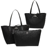 ゲス バッグ GUESS JQ642236 BOBBI INSIDE OUT TOTE BOBBI トートバッグ BLACK