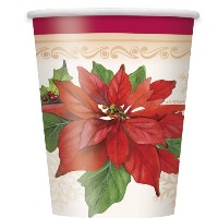 9ozポインセチアJoy Holiday Paper Cups , 8 ct