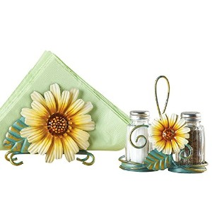 Sunflower Salt and Pepper Shaker Set by Collections Etc