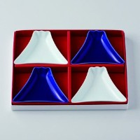 波佐見焼 晴 山豆皿4枚セット 小皿 Japanese Porcelain Hasami ware gift. Set of 4 yama mamezara small plates with...