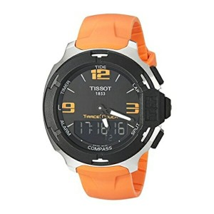 ティソ Tissot 腕時計 メンズ 時計 Tissot Men's T0814201705702 T-race Analog-Digital Display Swiss Quartz Orange...