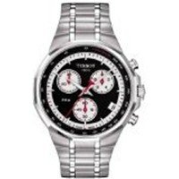 ティソ Tissot 腕時計 メンズ 時計 Tissot Prx Chronograph Mens Watch - Black Dial