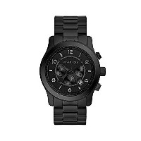 マイケルコース Michael Kors メンズ 腕時計 時計 Michael Kors Men's Black Tonal Runway Watch