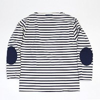 SAINT JAMES/セントジェームス OUESSANT ELBOW PATCH/ウェッソン エルボーパッチ T5(L) エクリュxマリン