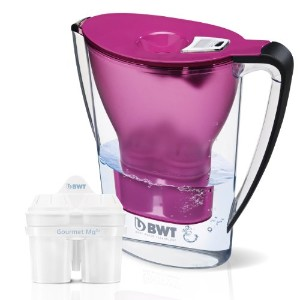 BWT Mineral Water Pitcher with 2 Long Life mg2 +カートリッジ、2.7-liter、Aubergine
