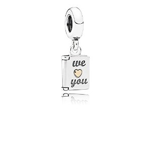 PANDORA Charms パンドラ チャーム - 母の日カードシルバーダングル14Kで - Mothers Day card silver dangle with 14k
