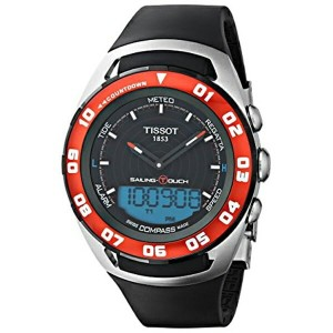 ティソ Tissot 腕時計 メンズ 時計 Tissot Sailing-Touch Mens Black Face Multi-function Watch T056.420.27.051.00