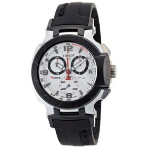 ティソ Tissot 腕時計 メンズ 時計 Tissot Men's T0484172703700 T-Race Quartz White Chronograph Dial Watch