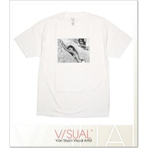 (ビジュアル) VISUAL (ビジュアル) VISUAL×MICHELE MATURO IGNEOUS TEE (SS:TEE)(VI16ST01-WH) Tシャツ 半袖 カットソー