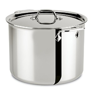 All-Clad 4512 Stainless Steel Tri-Ply Bonded Dishwasher Safe Stockpot with Lid / Cookware, 12-Quart...