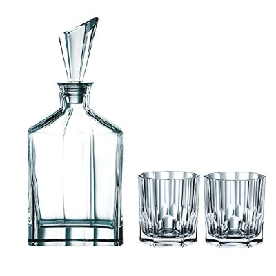 Nachtmann Aspen Decanter Set with Stopper and Whisky Tumblers by Nachtmann - The Life Style Division of Riedel Glass Works