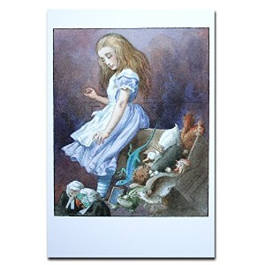 Alice with Birds and Squirrel オリジナル・ポストカード Alice in Wonderland Alice with Birds and Squirrel カードギフト