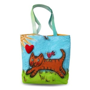 Bright Bags Brightworld Tote Bag, Cat, Large by Bright Bags