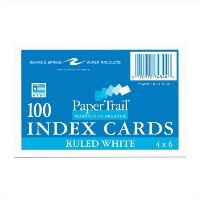 Paper Trail Index Cards Ruled