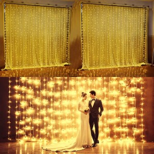 6Mx3M 600LED Waterfall Outdoor Christmas Xmas LED String Fairy Wedding Event Curtain Holiday Light 2