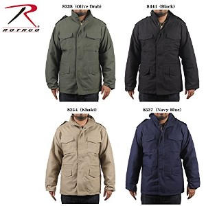 ROTHCO M-65 FIELD JACKET WITH LINER ロスコ ライナー付きフィールドジャケット (XS, 8444(Black))