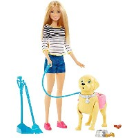 バービー人形Barbie Girls Walk and Potty Pup with Blonde Doll [並行輸入品]