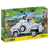 Cobi Small Army ミリタリーブロック WWII 第二次世界大戦 ドイツ軍 Sd.Kfz.222 4輪装甲偵察車 #2366【COBI 日本正規総代理店】