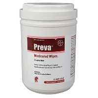 Preva Medicated Wipes - 120 Count by DVM Pharmaceuticals