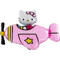 """37"""" Hello Kitty inピンクヘリコプターホイルバルーン–Inflate With空気/ヘリウム)"""