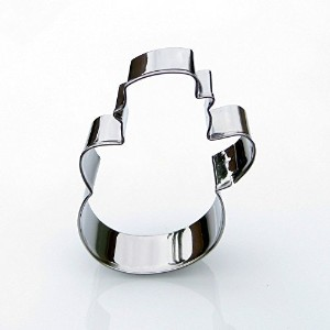 Snowman Cookie Cutter- Stainless Steel by Sweet Cookie Crumbs
